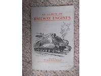 Wills cigarette cards - set of 50 Railway Engines in album