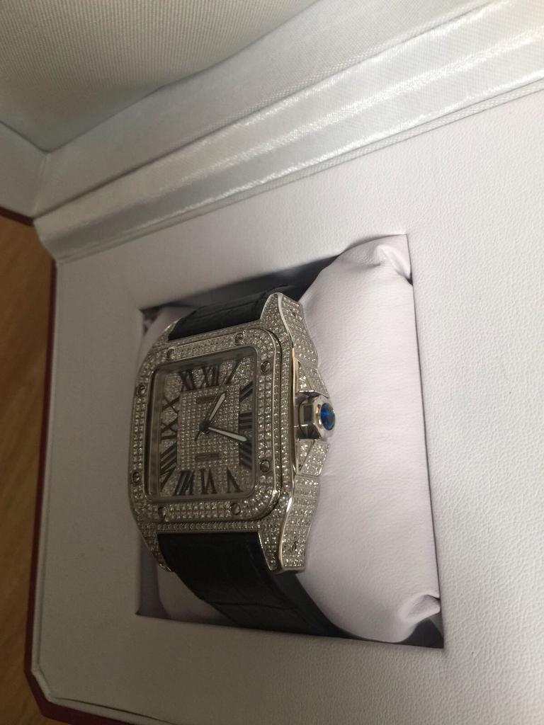Cartier FULL diamond iced watch