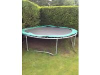 12 ft Trampoline with surrounding safety pads