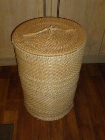 new CANELLA White Rattan Storage Basket Stand Rack Holder good quality 38 x 56 cm