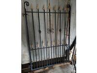 Decorative metal gates