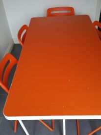 Ikea RYDEBACK Dining Table with 5 foldable chairs set (with extra one seat)