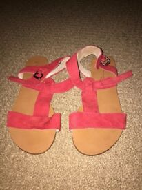 Next flat red sandals. Size 4. Condition excellent. Never worn.