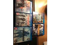 PS4 slim 500gb and 6 titles and 2 controllers
