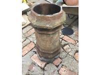 Chimney pots x 2 very old make good planters