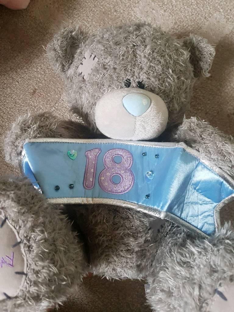 Happy 18th birthday Me to you teddy bear ha