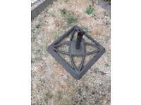 Wrought iron parasol base/holder