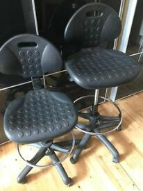 2 Modern chairs/stools