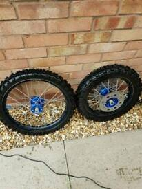 Yz85 exelrims with tylon hubs and tyres exhaust 2008