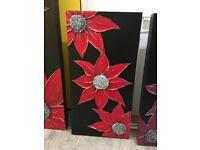 Handmade Black & Red Canvas
