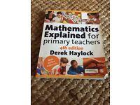 PGCE primary teachers book MATHS guide for teachers