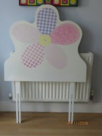 Next pink wooden flower headboard for single bed