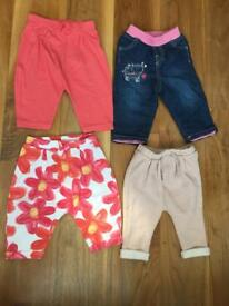 Cutest collection of baby trousers 3-6 & 6-9 months old babies