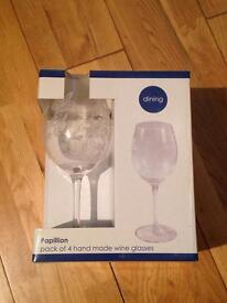 Four wine glasses - brand new in box