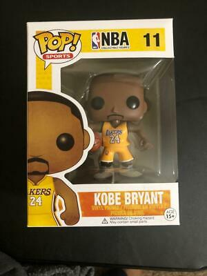 Kobe Bryant lakers #11 funko pop golden yellow jersey shipped with pop protector