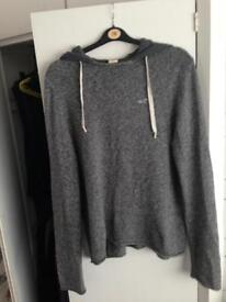 Hollister hooded wool jumper sweater L
