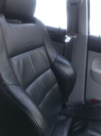 Mk4 golf leather recaros for sale. Front and rear seats.