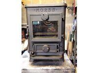 Morso Squirrel multifuel stove/woodburner - can burn wood, logs, coal or peat
