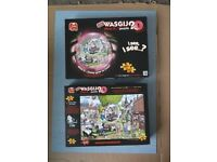 Wasgij? Jigsaws 1000 Piece Puzzles £7.50 Each Complete and in Very Good Condition