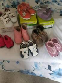 Girls shoes size eu 21 &23 uk 4.5 &6