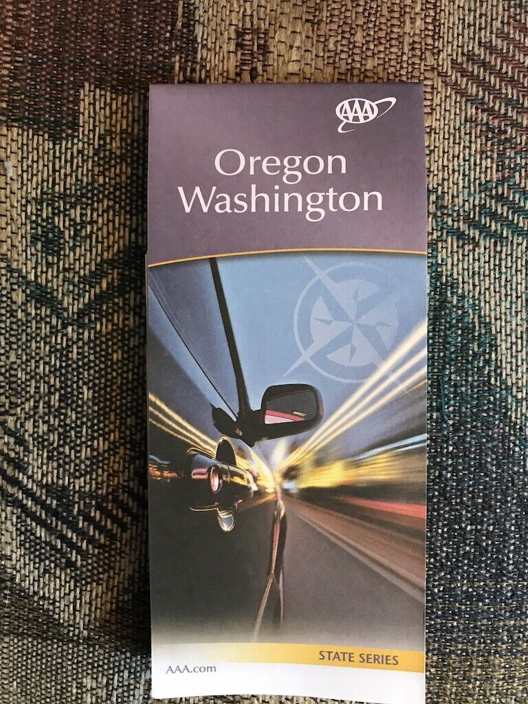 OREGON WASHINGTON STATE SERIES HIGHWAY MAP AAA 2/20-5/21 NEW - $5.75
