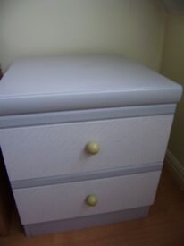 Bedside table, two drawers, good condition
