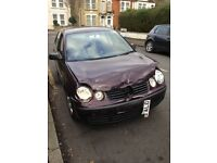 53 plate Volkswagen Polo 1.4 5dr manual, light front damage, Long MOTD & taxed £150