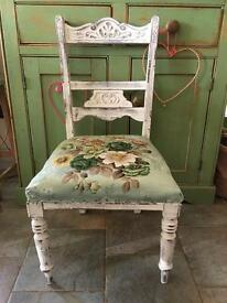 Shabby chair chair vintage retro floral green