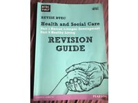 BTEC pearson health and social care guide