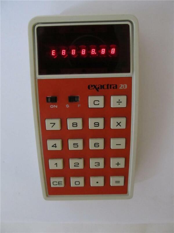 Vtg Exactra 20 Calculator EX-20 Texas Instruments *****