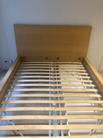 Double bed frame + 2 storage boxes