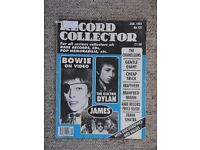 Record Collector magazine - Issue 137 January 1991 - Bowie, Dylan, Sinatra etc.