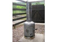 GAS BOTTLE WOOD BURNER (SHEFFIELD AREA) CHIMENEA/PATIO HEATER/WORKSHOP