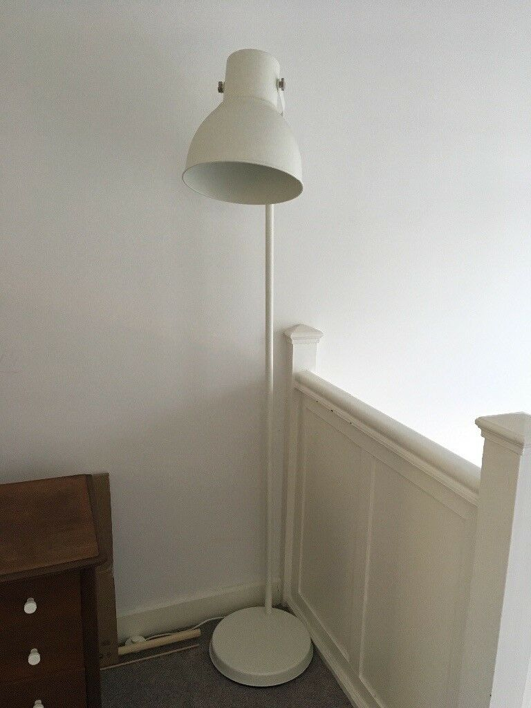 ikea hektar floor lamp white industrial retro in renfrew renfrewshire gumtree. Black Bedroom Furniture Sets. Home Design Ideas