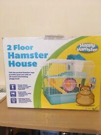 2 floor hamster cage