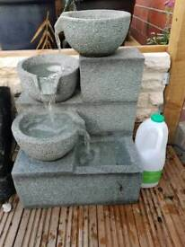 Brand new with box . 3 teir urn water feature