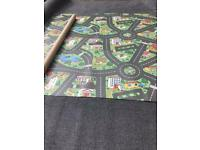 "Vinyl flooring car mat design 8ft 3"" x 9ft"