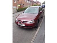 **REDUCED FOR QUICK SALE** 2003 Nissan Almera 1.8 SE Saloon Petrol