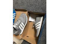 Kids Grey Adidas Trainers