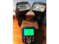 2 x Yongnuo 560 IV Nikon Speedlights + controller + charger + batteries