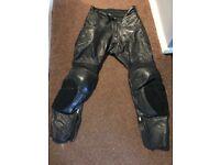Women's Hein Gericke Leather Motorcycle Trousers - size 12