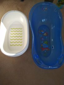 Used baby baths in good condition