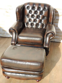 Thomas Lloyd Chesterfield Armchair with footstool (Delivery)