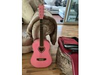 Pink childs guitar