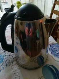 Electric silver kettle.