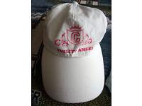 Women's/girls' white Varsity Angel baseball cap.