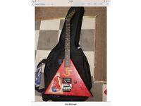 Red Kramer electrical guitar