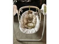 Mamas and papas battery powered baby swing