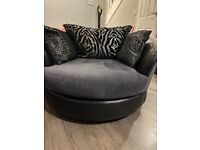 2 seater swivel chair and sofa