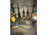 job lot dyson vacuum cleaners , dc24,dc25,dc33,dc40,dc14,dc08
